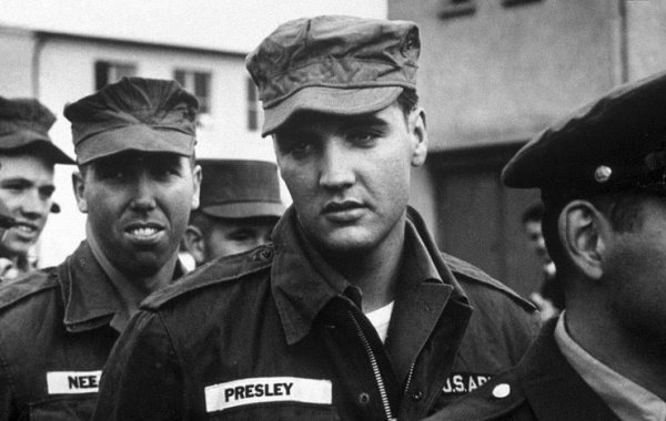 Elvis Presley and arms