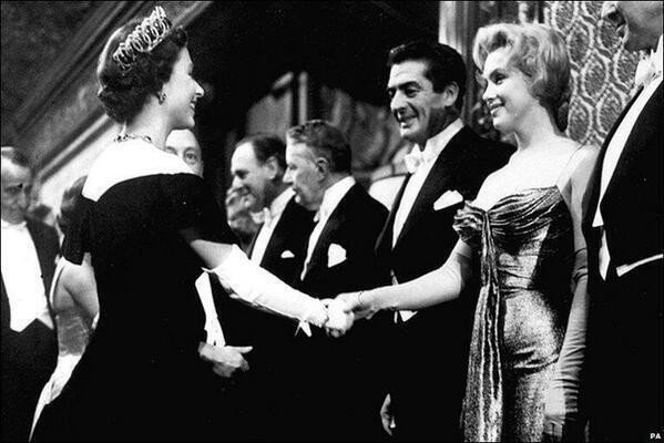 Marilyn Monroe meets Queen Elizabeth II  1956
