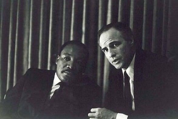 Martin Luther King Jr and Marlon Brando