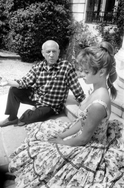 Pablo Picasso & Brigitte Bardot 1956
